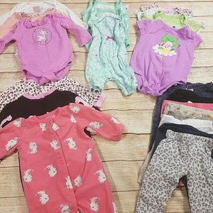 Large 20 Piece Lot Baby Girls Clothes